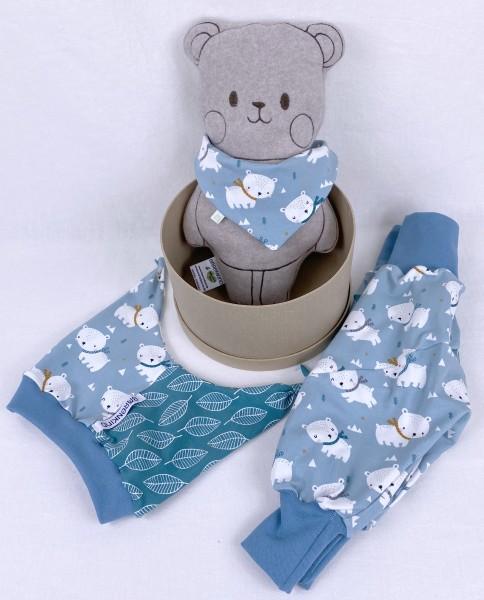 Geschenkset Kleiner Eisbär mit Kuschelbär