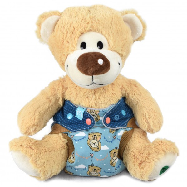 Windel Winnie - Teddybär als Windeldummy