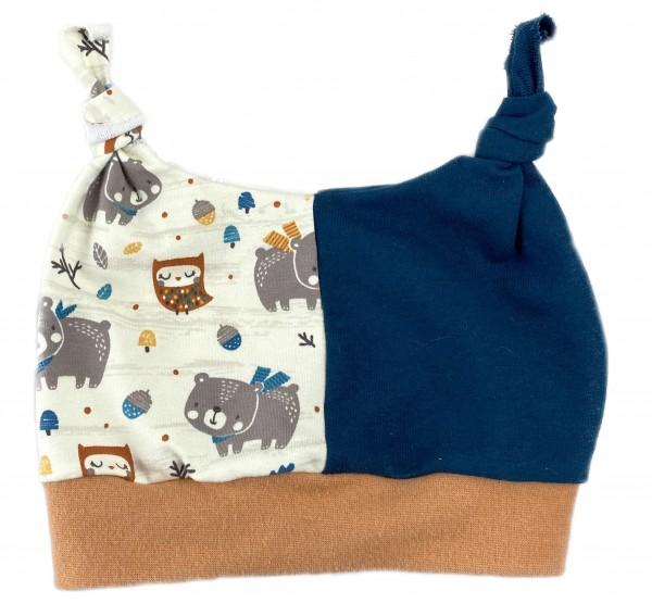 Hörnchen-Mütze Eule&Bär
