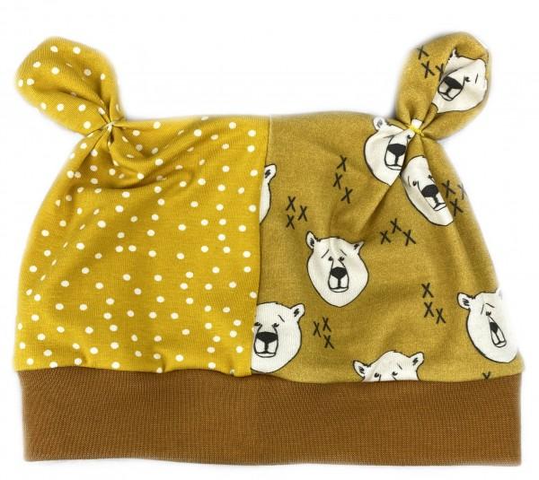 Öhrchen-Mütze Bär im Senftopf